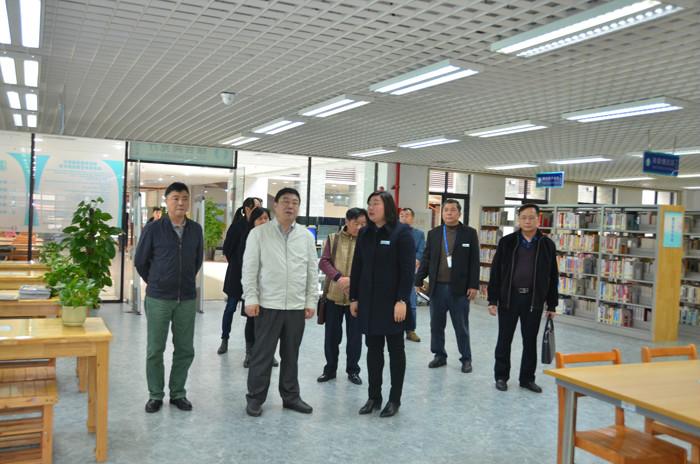 市文廣新局局長程彥春蒞臨市圖書館實地調研